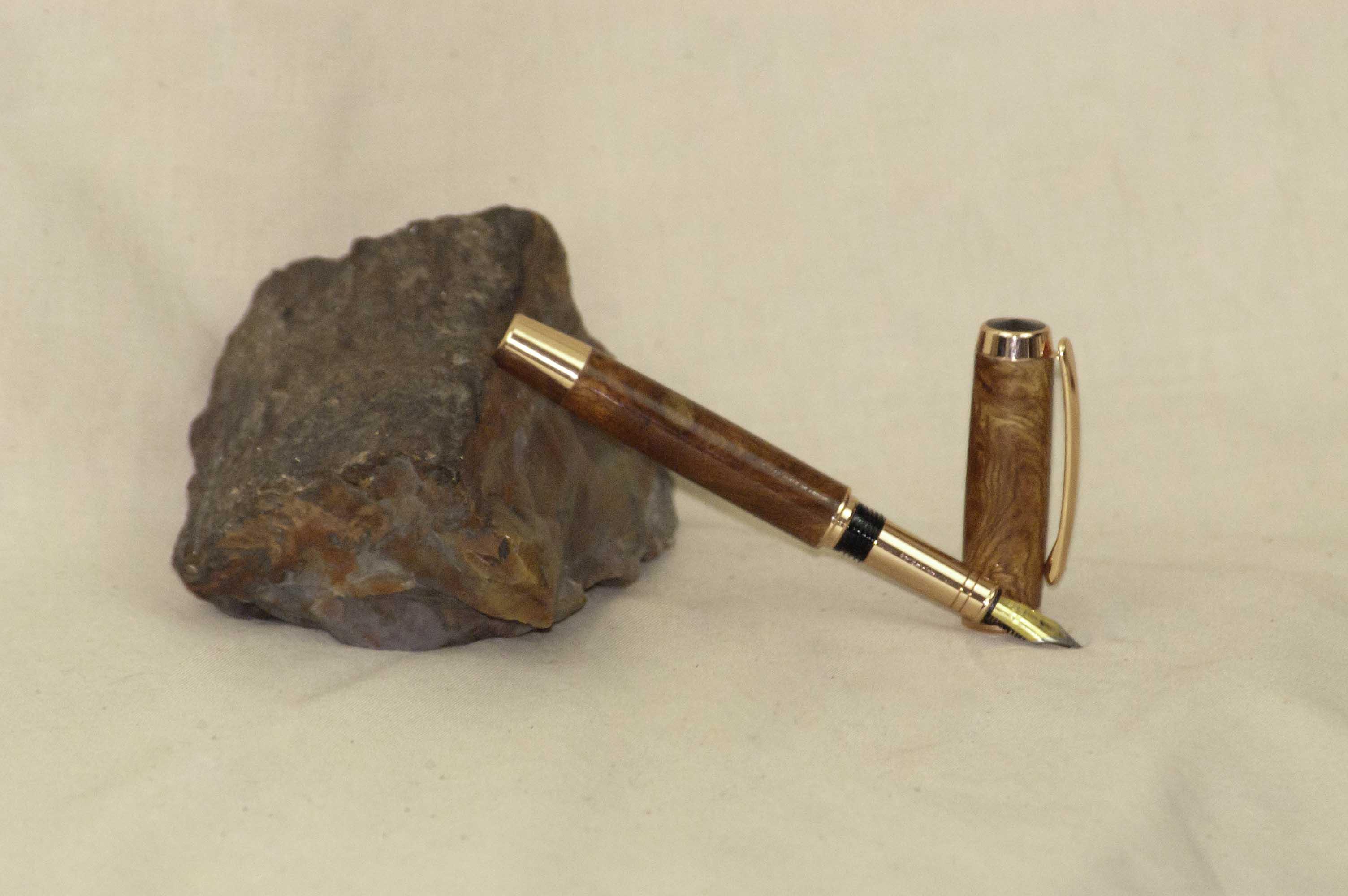 Amboyna Burl Fountain Pen